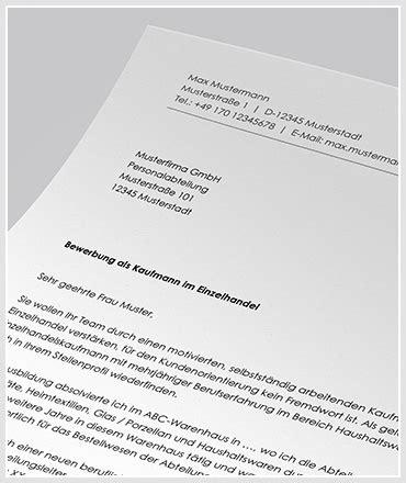 Anschreiben Kaufmann Im Einzelhandel Anschreiben F 252 R Bewerbung Als Kaufmann Kauffrau Im Einzelhandel