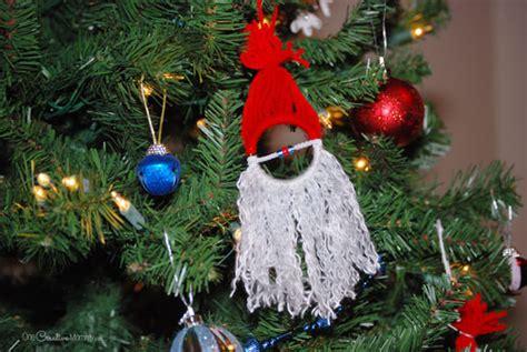 homemade christmas ornaments  kids santa