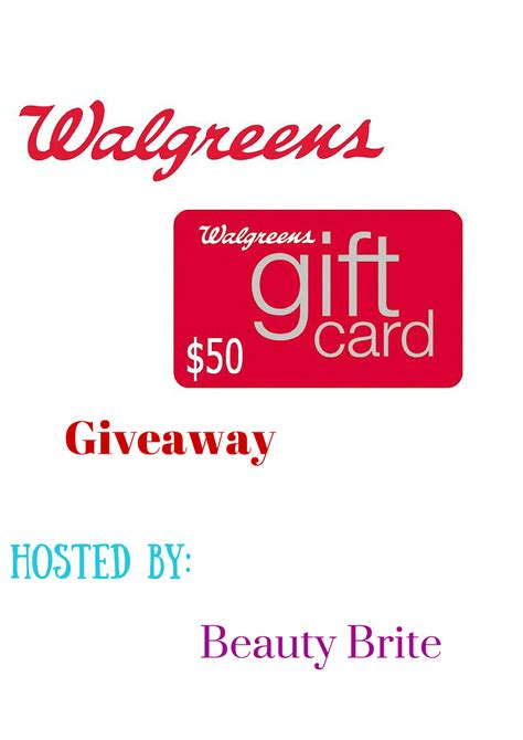 Walgreens Gift Cards Available - 50 00 walgreens gift card giveaway mommy s block party
