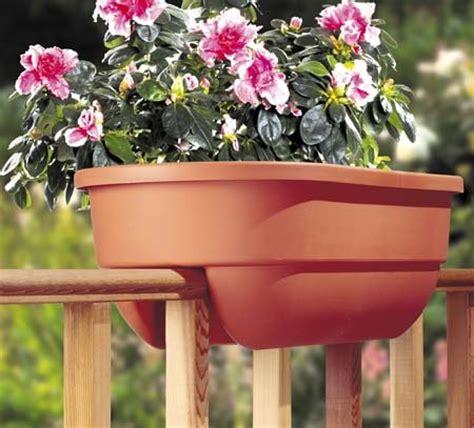 Apollo Deck Rail Planters by Railing Flower Pots Railing Flower Pots