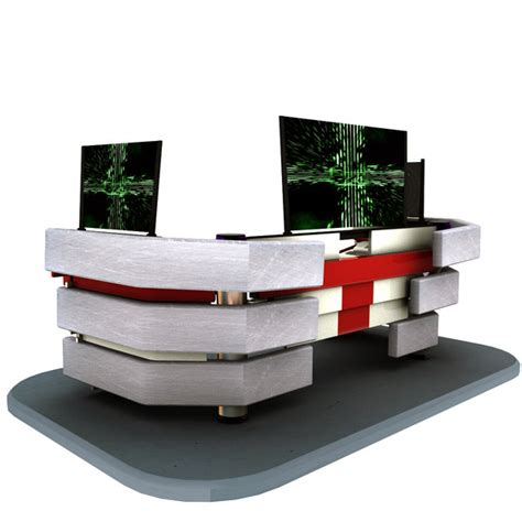 futuristic desk 3d futuristic control desk model
