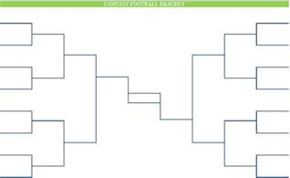 Empty Bracket Template by Printable Blank Pdf Nfl Football Brackets
