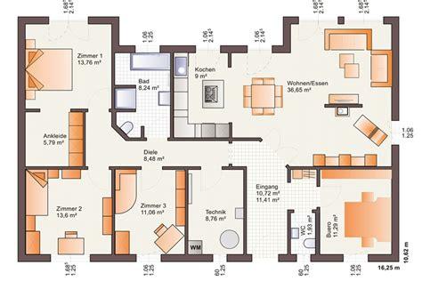 haus 9m breit bungalow one 139 mit walmdach b 228 renhaus