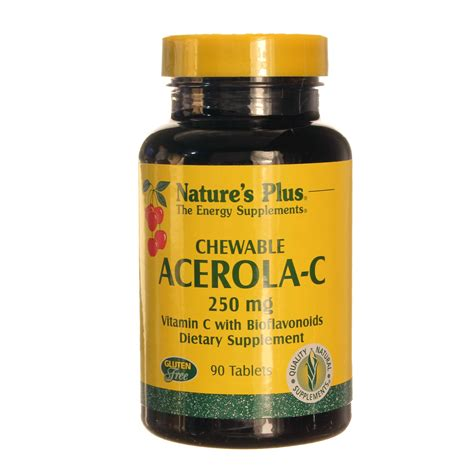 C Complex Natures Plus Vitamin C 1000 Mg Isi 60 nature s plus acerola c complex 250 mg 90 chewables