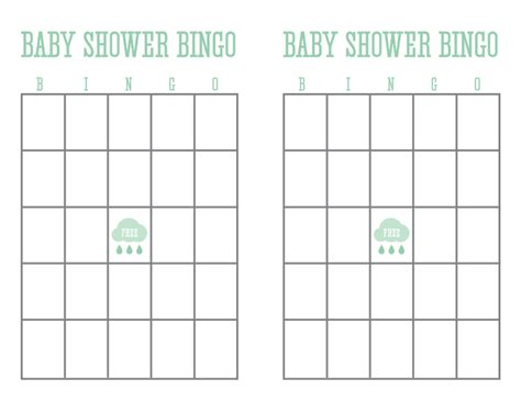 blank baby shower bingo cards template 8 best images of baby bingo printable sheets free