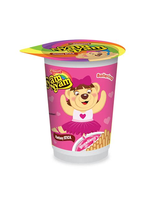 Nissin Mini Stick Crackers 25g arnott s biscuit nyam nyam fntasy stick strawberry cup 25g