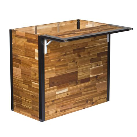 outdoor bar plant a bar wooden outdoor bar and planter the green