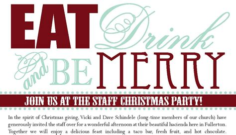 staff christmas party beganwithabow staff invitation