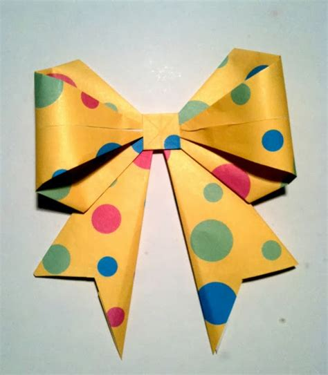 Origami Present Bow - origami bow the idea king