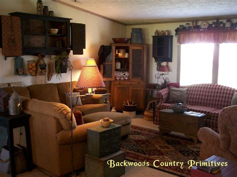 primitive curtains for living room backwoods country primitives living room pinterest