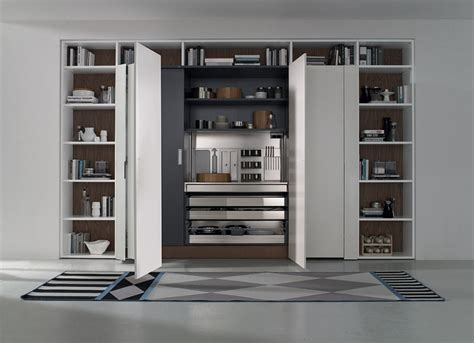 Contemporary italian kitchen space saving versatile compositions