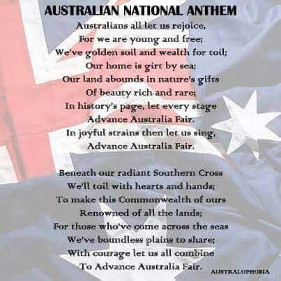 full version national anthem the 25 best ideas about advance australia fair on