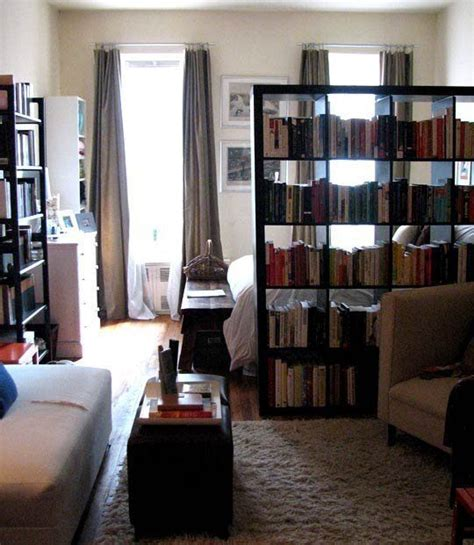 Inspiration Using A Bookcase As A Room Divider Using Bookshelves As Room Dividers