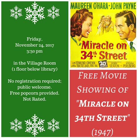 The Miracle On 34th Free Free Miracle On 34th The Manchester Mirror