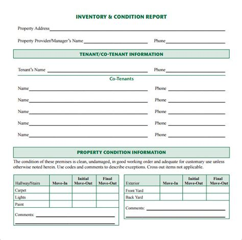 sle inventory report template report inventory template 28 images tco physical