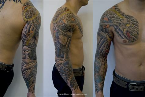 japanese dragon tattoo sleeve monki do studio june 2013