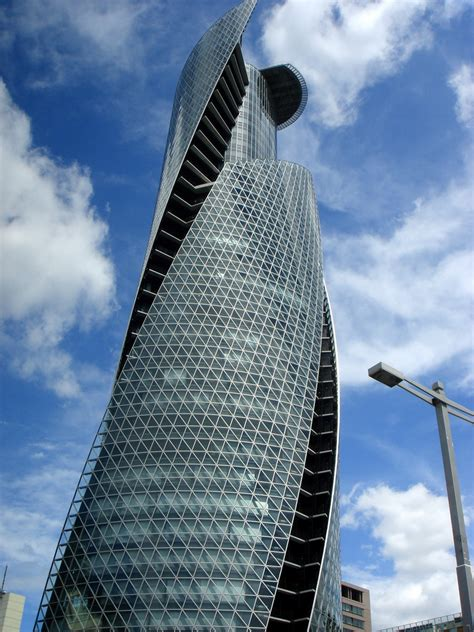 contemporary curtain wall architecture mode gakuen spiral towers construction began 2005