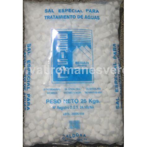 tabletas de sal sal mineral tableta 25 kg vallromanes verd s l