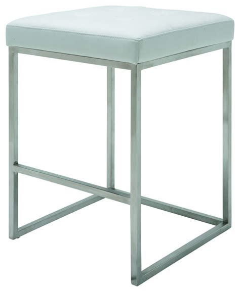 Chi Bar Stool by Chi Counter Stool In White By Nuevo Hgpa107 Modern Bar Stools And Counter Stools By Ebpeters