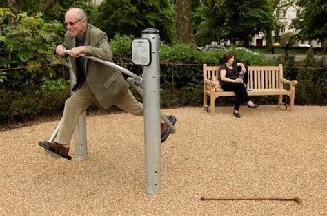 Backyard For Seniors Senior Playgrounds Offer Fitness And Community For