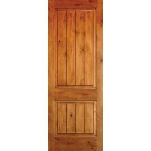 solid wood interior doors home depot krosswood doors 36 in x 96 in knotty alder 2 panel square top v groove solid wood left