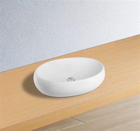 vasque ovale la galet ovale 224 poser sur un meuble salle de bains