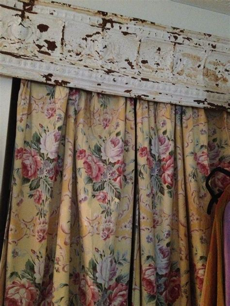 wood curtains window use metal crown molding as window valance ideas of all