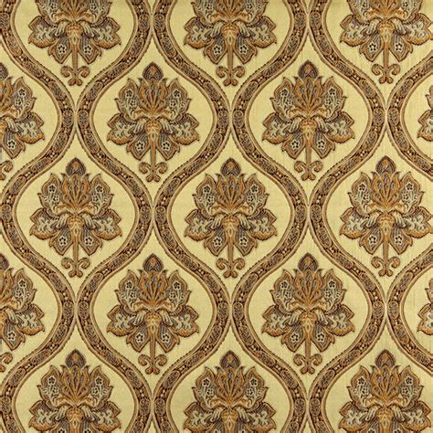 traditional upholstery fabrics gold brown and ivory traditional brocade upholstery fabric