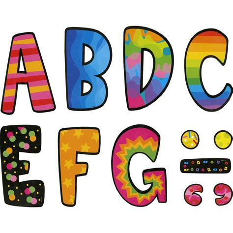 pattern for cutting letters for bulletin boards the poppin patterns 7 designer letters really good stuff