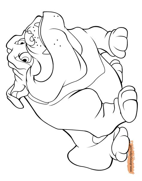 lady and the tr printable coloring pages disney
