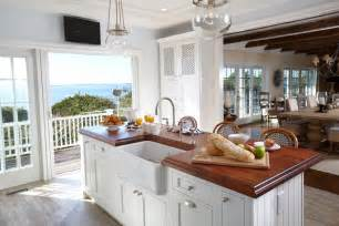Beach house kitchen this classic beach house kitchen is flooded with
