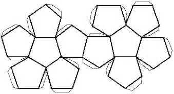 sphere net template solid shapes and their nets dodecahedron