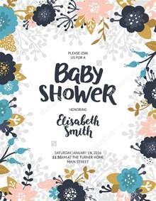 baby shower poster template baby shower flyer sorepointrecords