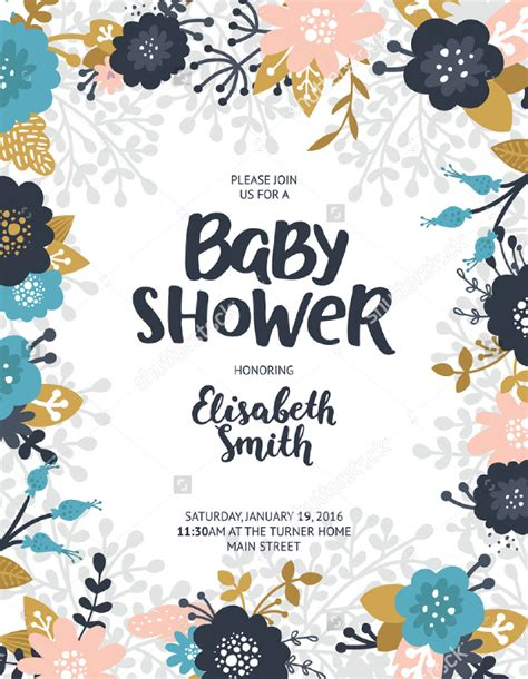 baby shower poster template 16 baby shower flyer templates printable psd ai