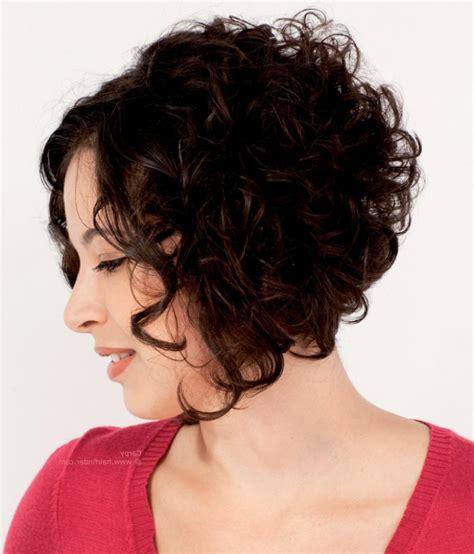 Short curly stacked bob hairstyles haircuts black