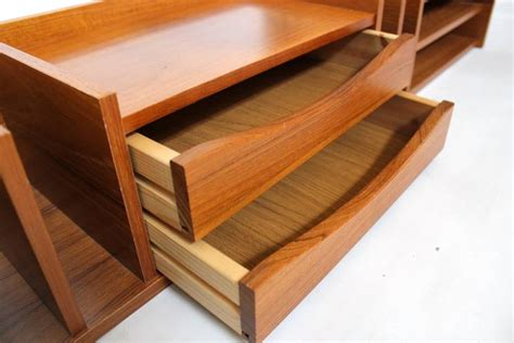 modern desk organizer modern teak desk organizer by pedersen and hansen