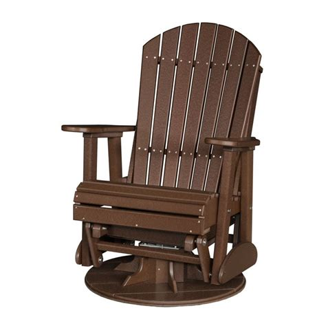 porch glider bench poly outdoor 2 foot adirondack swivel porch glider bench