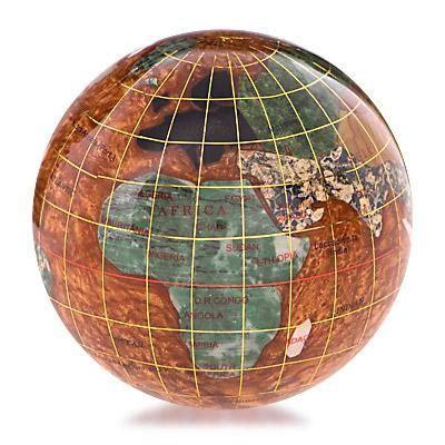 copper gemstone globe paperweight