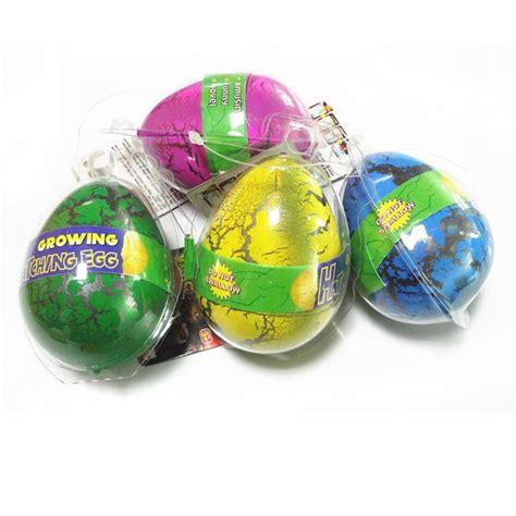packed novelty expansion hatching dinosaur easter eggs toys kid mainan telur paskah dinosaurus