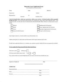 Maternity Leave Application by Simple Application Forms