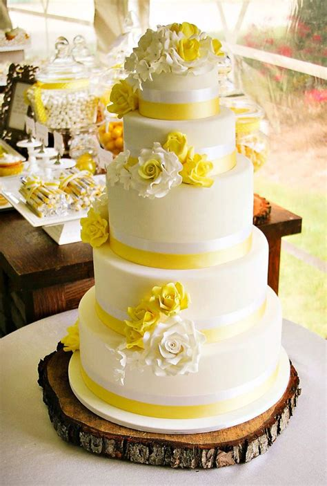 rustic sweet yellow summer wedding white wedding cakes wedding cake and cake