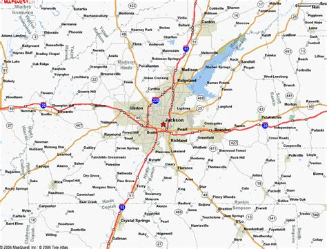 jackson ms map map of jackson ms