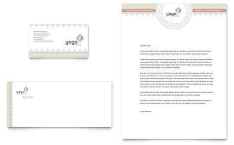 Pilates & Yoga Business Card & Letterhead Template   Word