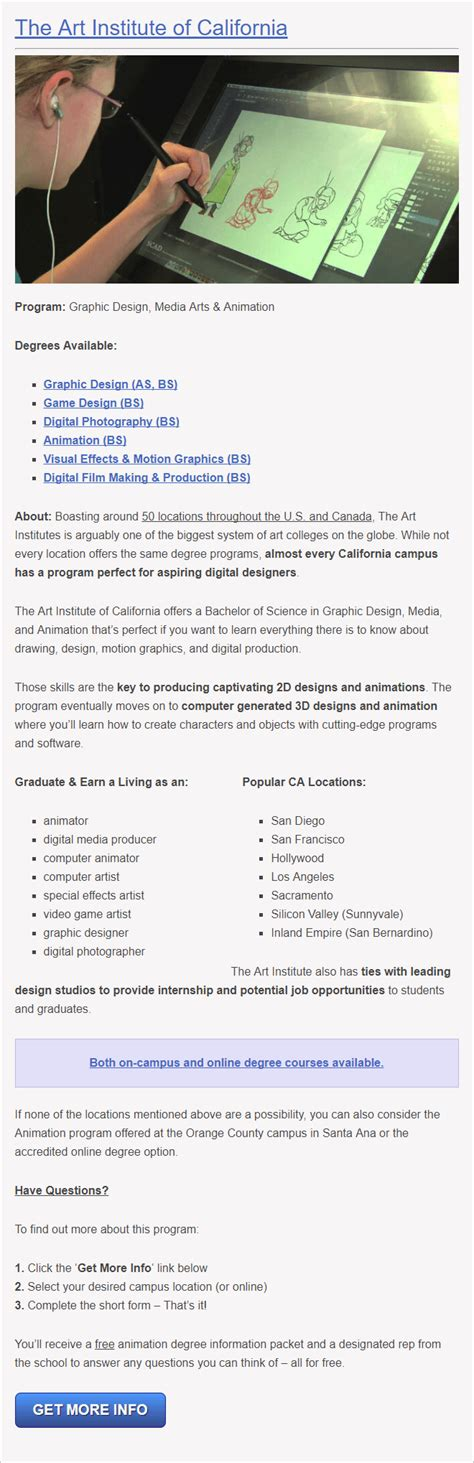 game design schools in california reviews of the 10 best graphic design schools in california