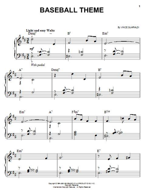 theme songs baseball baseball theme sheet music direct