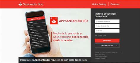 on line banco santander santander rio prestamos online creditoselo