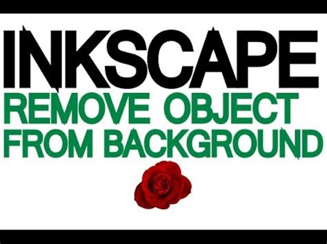 Inkscape Tutorial Remove Background | inkscape tutorial how to remove a traced object from it