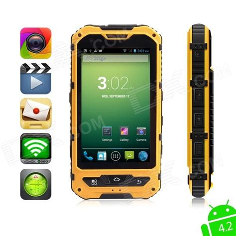 Rugged 3g Phone by Moxiv Ultra Rugged Waterproof Android 4 2 Wcdma 3g Smart