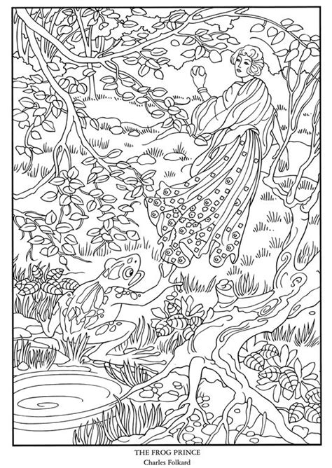 fairytales by sassy colouring books frog prince tale coloring page difficult coloring