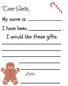 Santa Letter Templates by Free Printable Santa Letter Template Debt Free Spending